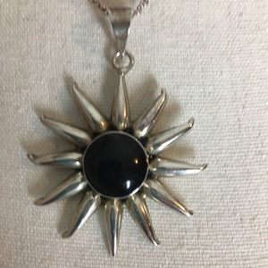 Jewelry - Onyx sterling silver sun enhancer